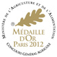 Médaille d'Or Paris 212