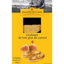 3 escalopes de foie gras de canard