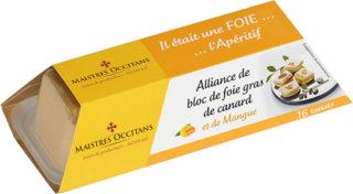 Alliance de bloc de foie gras de canard et de mangue mi-cuit 110g