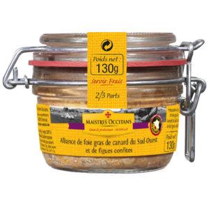 Alliance de foie gras de canard du Sud-Ouest et de figues confites 130g