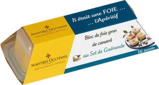 Bloc de foie gras de canard au sel de Guérande mi-cuit 110g