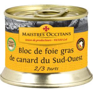 Bloc de foie gras de canard du Sud-Ouest 140g