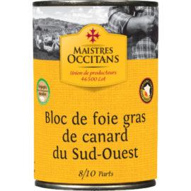 Bloc de foie gras de canard du Sud-Ouest 400g