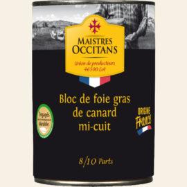 Bloc de foie gras de canard mi-cuit 400g