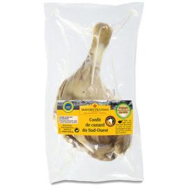 Confit de canard du Sud-Ouest 1 cuisse mi-cuit 180g
