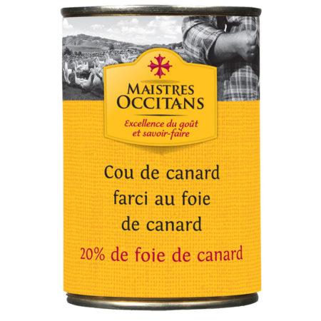 Cou de canard farci au foie gras (20% de foie gras) 380g