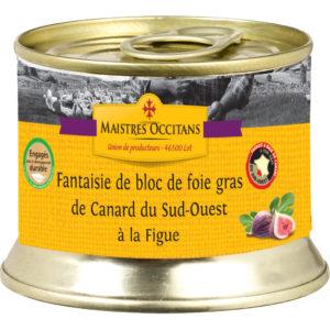 Fantaisie de bloc de foie gras de canard du Sud-Ouest à la figue 140g