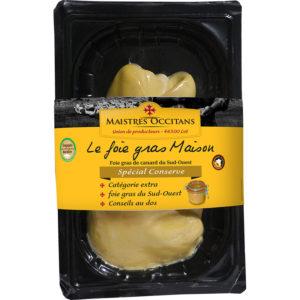 Foie gras de canard du Sud-Ouest cru, extra spécial conserve