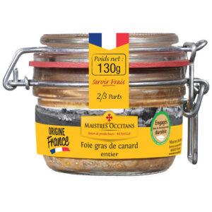 Foie gras de canard entier 130g