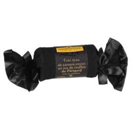 Foie gras de canard entier au jus de truffes cuit au torchon (3% de jus de truffes du Périgord) 200g