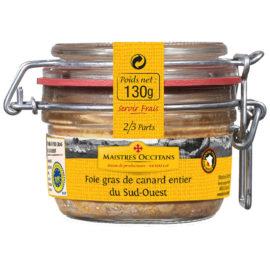 Foie gras de canard entier du Sud-Ouest 130g