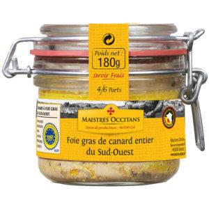 Foie gras de canard entier du Sud-Ouest 180g