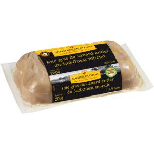 Foie gras de canard entier du Sud-Ouest 200g