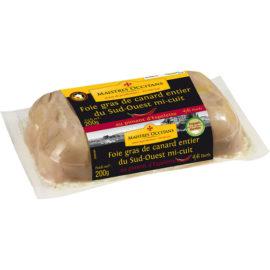 Foie gras de canard entier du Sud-Ouest au piment d'Espelette mi-cuit 200g