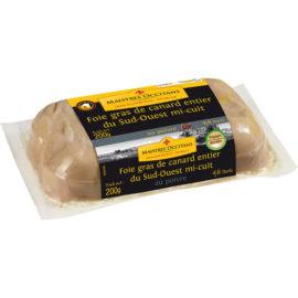 Foie gras de canard entier du Sud-Ouest au poivre mi-cuit 200g