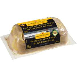 Foie gras de canard entier du Sud-Ouest au poivre mi-cuit 300g