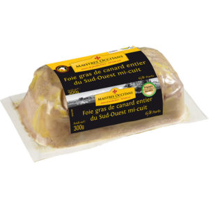 Foie gras de canard entier du Sud-Ouest mi-cuit 300g