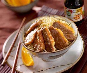Image wok de canard gingembre miel