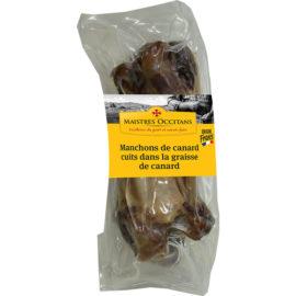 Manchons de canard cuits dans la graisse de canard mi-cuit