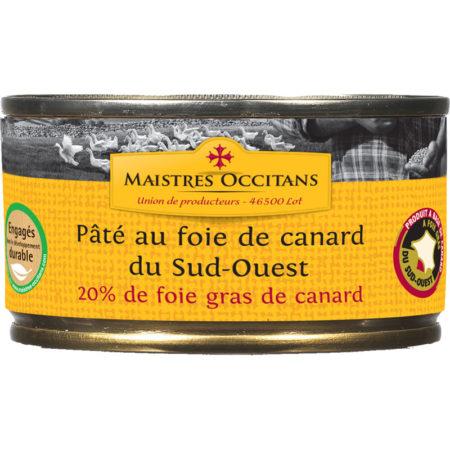 Pâté au foie gras de canard (20% de foie gras) du Sud-Ouest 130g