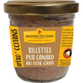 Rillettes pur canard du Sud-Ouest au foie foie gras (20% de foie gras de canard) 90g