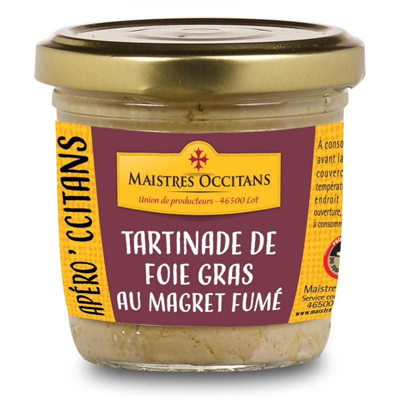 Tartinades de foie gras au magret fumé 90g
