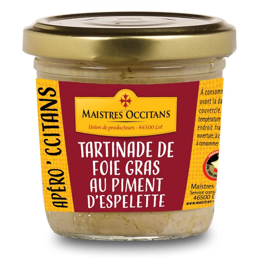 Tartinades de foie gras au piment d'Espelette 90g