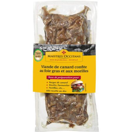 Viande de canard au foie gras et morilles mi-cuit 400g